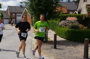 samen met Vincent kilometers vreten