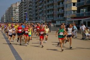 behouden start, snel (13.8km/u) maar me toch bewust inhouden...