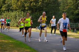 gaatje toelopen in de start-kilometer...