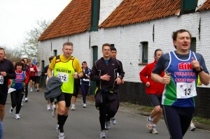 samen met Herman lopen in Damme-Brugge-Damme