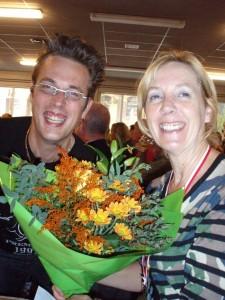 eerste in haar categorie - dik verdiende bloemen!