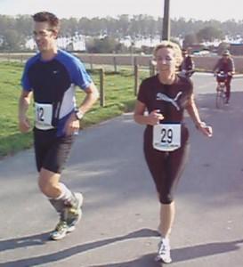 training 3 van de marathon training: wedstrijdje in Oostkerke