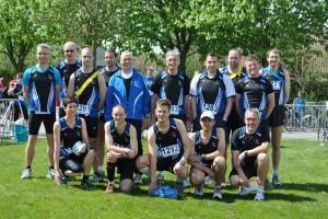 De 3 teams van onze joggingclub samen op de foto