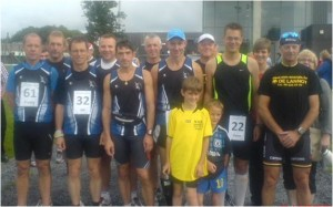Samen met de andere leden van m'n joggingclub (foto: Nico Schelstraete)