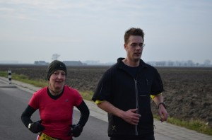 samen met Veerle voor de 2e keer aan de finish