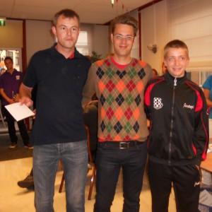het podium: Wim Van de Veire (3e), ik, Lars De Vilder (2e)
