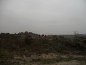 over de duinpaden (foto: Jessie)