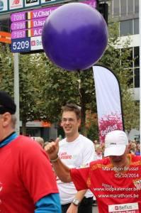 Finishen in de marathon van Brussel