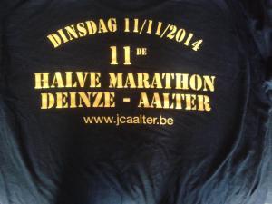 halve marathon Deinze - Aalter op 11 november