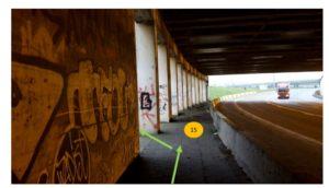 doorsteek onder brug (foto geript uit de pacer documentatie map)