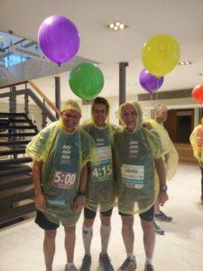 De 3 Belgische pacers in Eindhoven, vlnr: Koen, Ik, Mark
